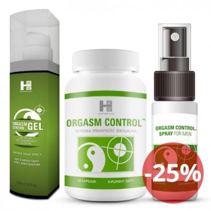 ORGASM CONTROL - 1 op. tab.+Gel+Spray GRATIS!